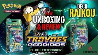 Unboxing e Review Deck RAIKOU - Trovões Perdidos - Pokémon Trading Card Game - Copag