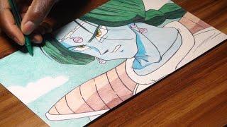 Zarbon Pen Drawing - Dragon Ball Z 51 - DeMoose Art