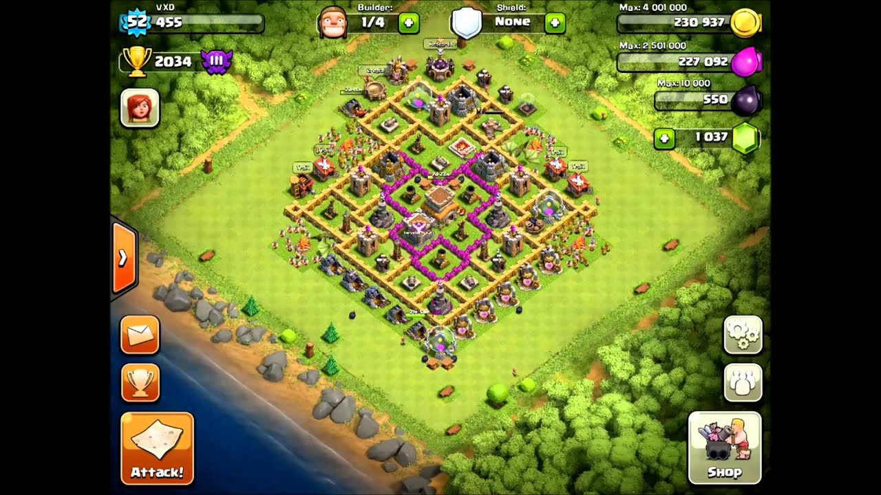 Best town hall level 8 defense setup clash of clans wins youtube