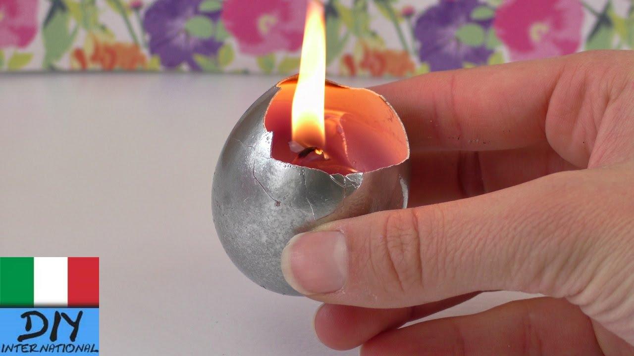 Candele di pasqua creare una candelina in un uovo idee for Idee per il fai da te