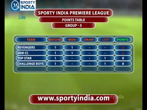 Cricket: Sporty India Premier league 2013-14 Points Table Group-5