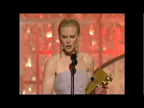 Nicole Kidman Wins Best Actress Motion Picture Drama - Golden Globes 2003