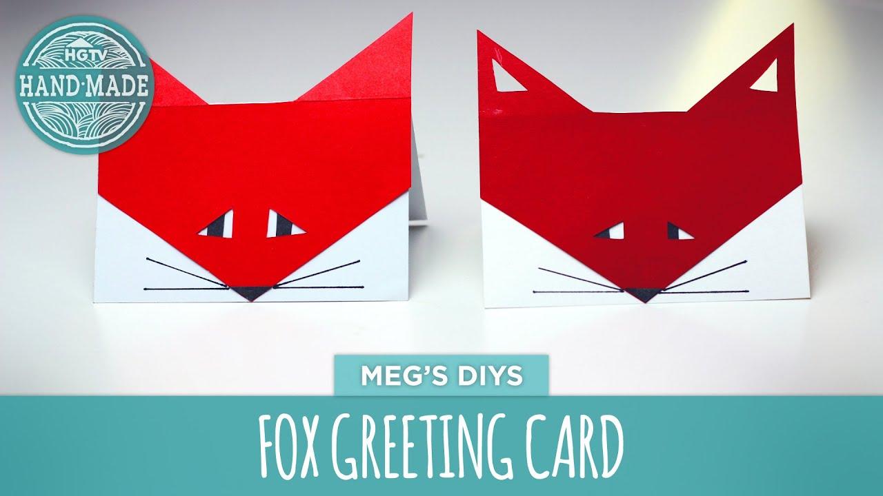 Fox Greeting Card Hgtv Handmade Youtube