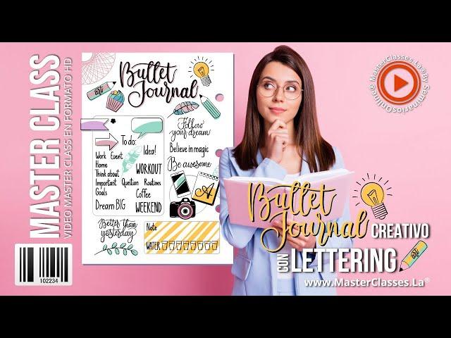 Bullet Journal Creativo con Lettering - Organiza toda tu vida con estilo.