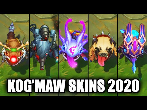 All Kog'Maw Skins Spotlight 2020 (League of Legends)