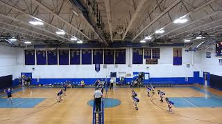 2018.09.21 Epping Blue Devils JV Volleyball Game 3 Vs Franklin WIN 15 - 11