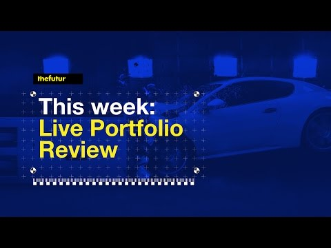🔴 Portfolio Design Critique Facebook Live