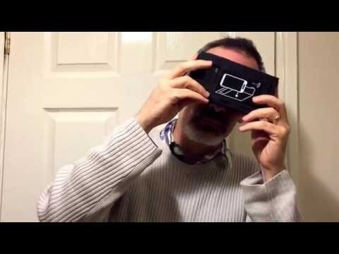Head roll/tilt  20 degrees/ 0.2 Hz with Google Cardboard VR Goggles