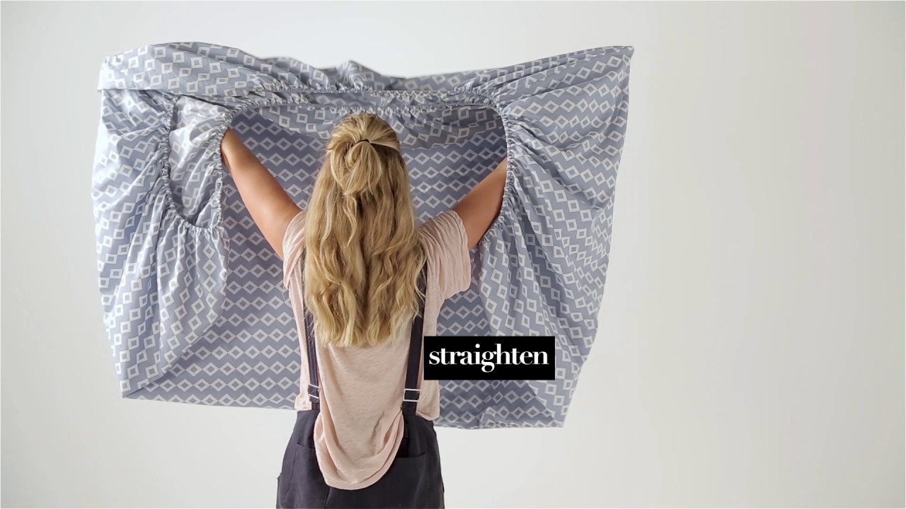 How To Fold A Fitted Sheet Linen House Youtube