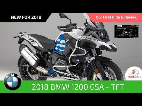 2018 BMW 1200 GS Adventure Rallye with TFT Screen   Our first ride and review