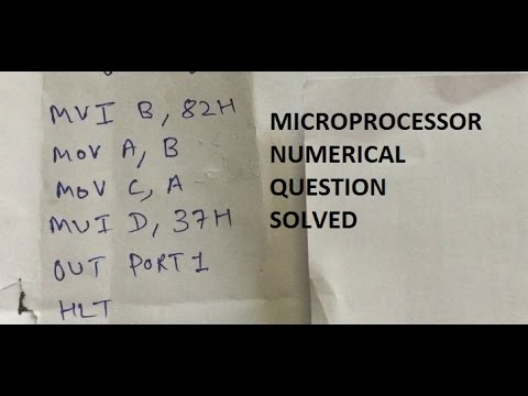 Microprocessor Numerical Question Solved With Explanation