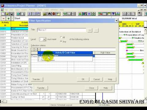 Primavera project planner 3 part 8 of 13 youtube for Project planner hd