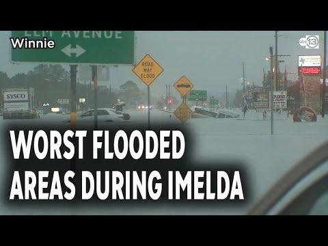 Worst Flooding Spots In Houston Area During Imelda