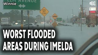 Worst flooding spots in Houston area during Imelda