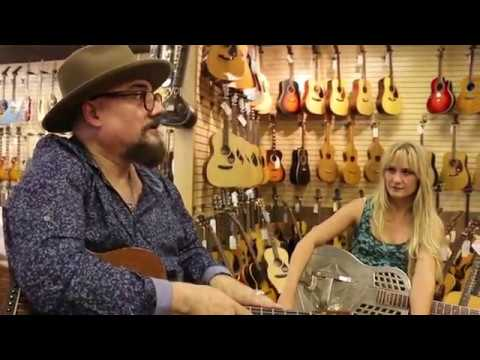 Jimmy Vivino & Sarah Rogo playing a 1940 Martin 0-18 & 1930's National Tri-Cone