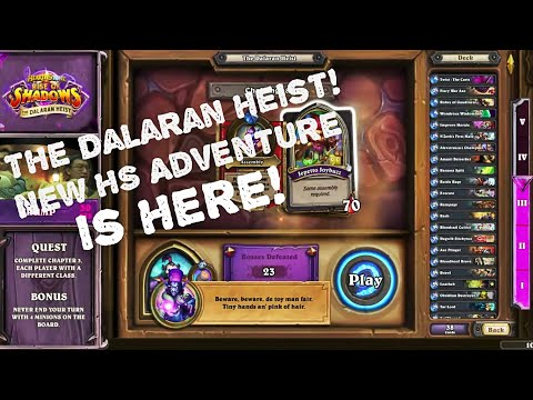 Rise Of Shadows. The Dalaran Heist! New HS Adventure Is Here!