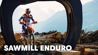 Going hard enduro in one of Europe's largest sawmills