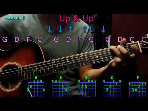 up & up coldplay guitar chords