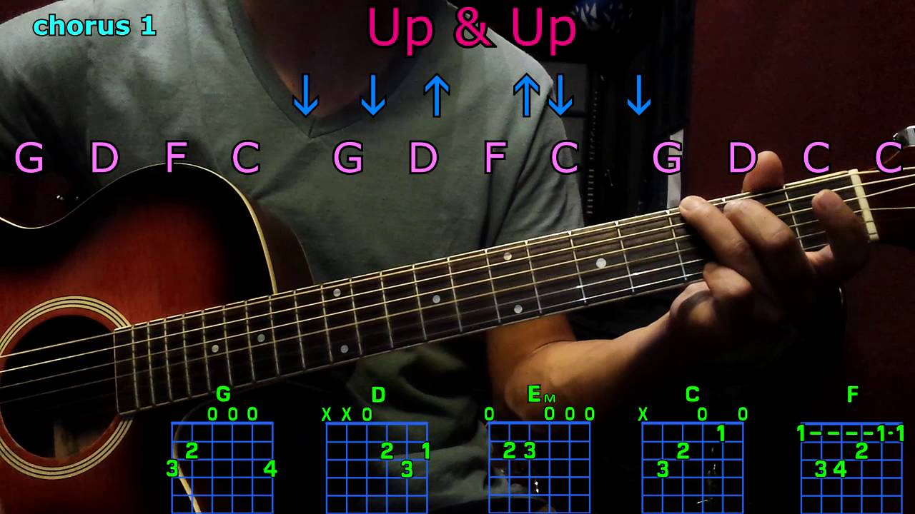 up & up coldplay guitar chords - YouTube
