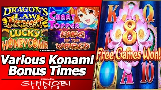 Various Konami Slot Bonuses - Chart Topper, Dragon