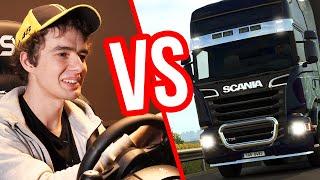 Kierowca ciężarówki kontra Euro Truck Simulator