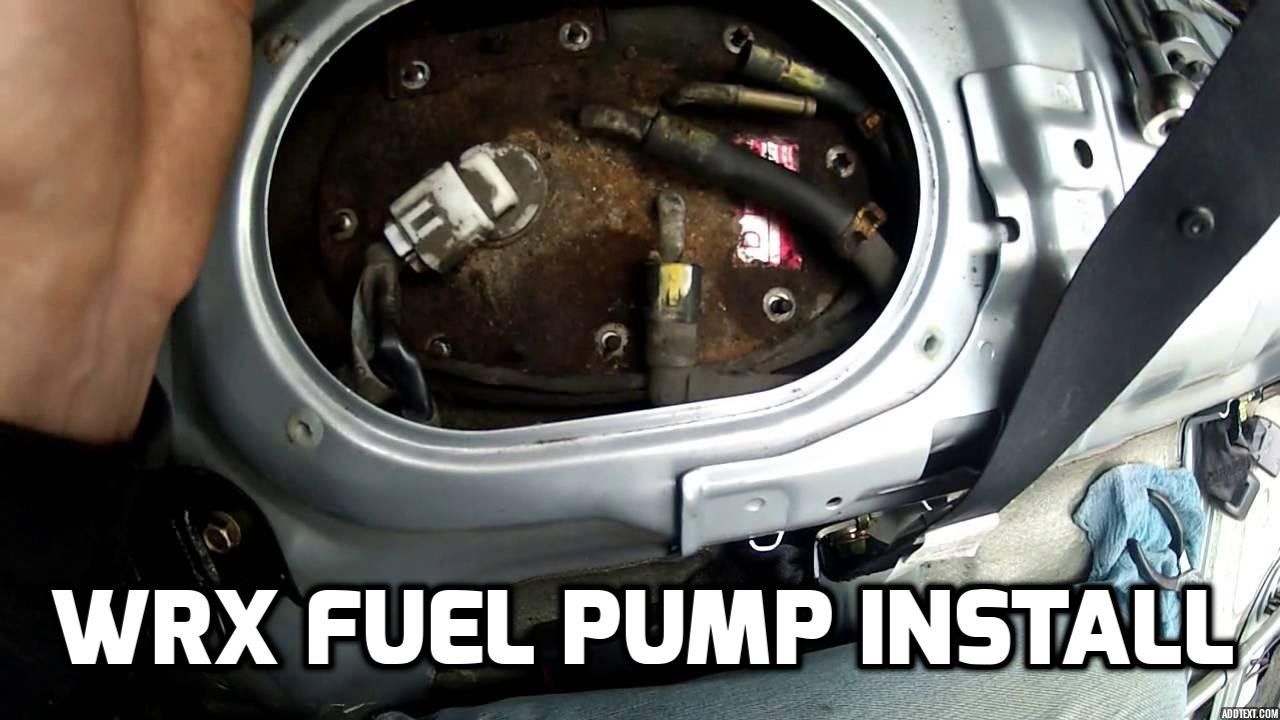 Wrx Fuel Pump Install Youtube