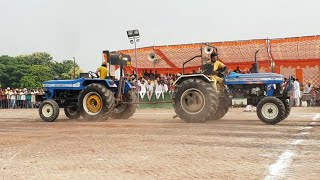 Sonalika 55 vs powertrack 4455 tractor tochan in Punjab