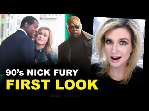 Captain Marvel Movie - Nick Fury FIRST LOOK Reaction