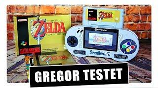 Gregor testet Supaboy SFC, das Super Nintendo-Handheld für Unterwegs (Review / Test)