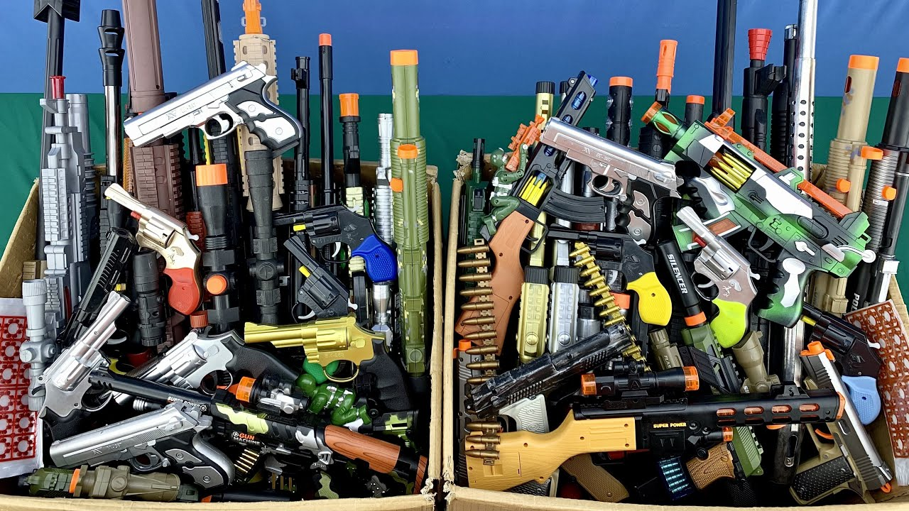 Box of Toy Rifles ! Oversized Bead Throwing Rifles - Small but Dangerous Weapons - BB GUNS