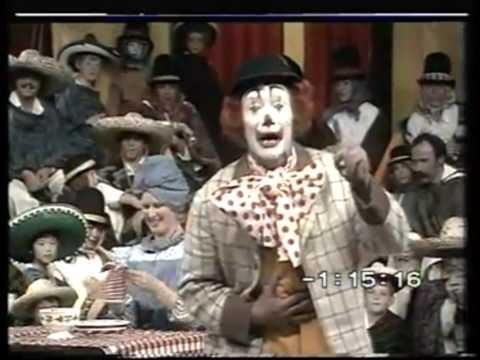 pipo de clown - voorstelling in het tamelijk wilde westen