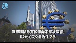 歐銀稱移除寬松傾向不應被誤讀,歐元跳水逼近1.23(《華爾街電視新聞》2018年4月12日) thumbnail