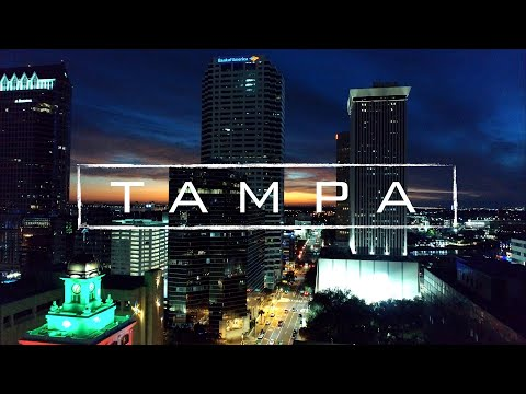 Tampa, Florida By Night | 4K Drone Video