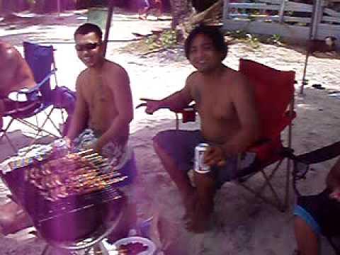 Guam beach bbq
