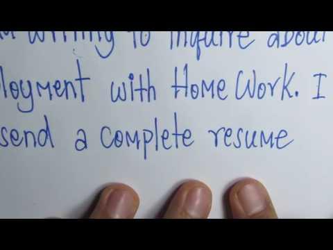 การเขียน Cover letter ของ Resume (ตอนที่ 1 จากทั้งหมด 3 ตอน) โดยครูวสันต์ อายุบเคน