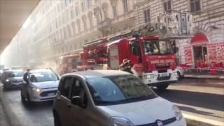 Roma, incendio in un appartamento di fronte alla stazione Termini