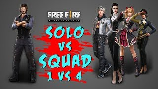 Solo Vs Squad 18 Kill Gameplay - Garena Free Fire- Total Gaming
