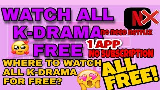 FREE K DRAMA APP TO WATCH NO SUBSCRIPTION| FREE APP TO WATCH KDRAMA| kissmaetenderly