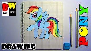 Рисуем карандашом ПОНИ по клеточкам. Учимся рисовать Пони карандашом.(Как нарисовать карандашом пони по клеточкам. Простые рисунки - лошадь. https://www.youtube.com/channel/UC5Jj1a2UN9GJJKrw73w62OQ/videos..., 2017-01-07T14:39:32.000Z)