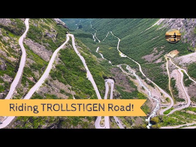 Riding Trollstigen - Norway's CRAZY ROAD on a Motorbike -  Road Trip Summer 2018 - Wandering Bird