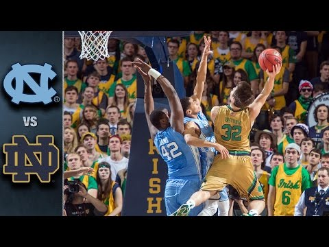 North Carolina vs. Notre Dame Basketball Highlights (2015-16)