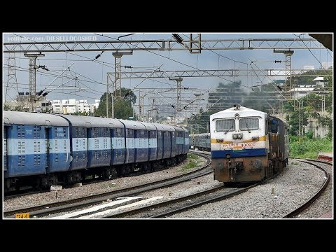GRAND OLD WDP 4D ACCELERATES with COIMBATORE Express | Indian Railways