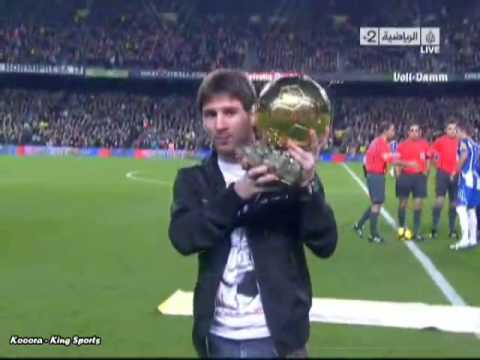 ballon d'or 2009 messi à camp nou