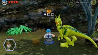 Lego Jurassic World. A Timed Fight Challenge. Safari Plains, Jurassic World.