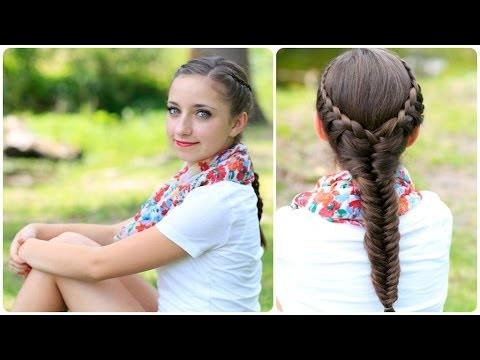 The Laced Fishtail Braid Cute Girls Hairstyles - YouTube