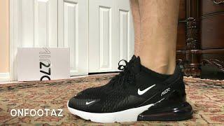 Nike Air Max 270 Black White On Foot