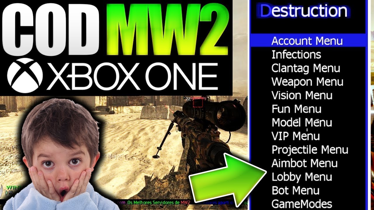 COD MW2 XBOX ONE - USING THE BEST MOD MENU/HACKS EVER MADE? (Xbox One  Mods)::