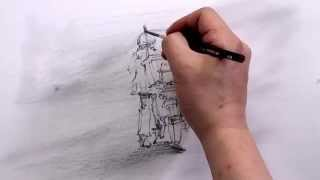 How to draw the delivey man by Um KyungHo