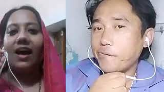Bali umar ne mera karaoke by kamal thapa ambala with awesome female singer farzana ji
