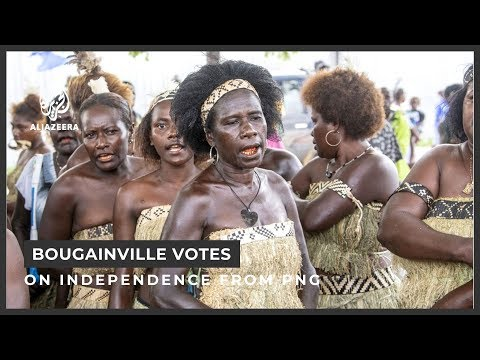 Pacific Island Chain of Bougainville votes on Independence from Papua New Guinea - 2019